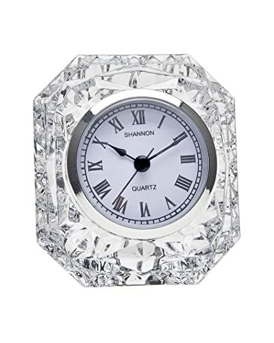 Godinger Crystal Emerald Clock, Non Leaded Crystal, 1x1x1