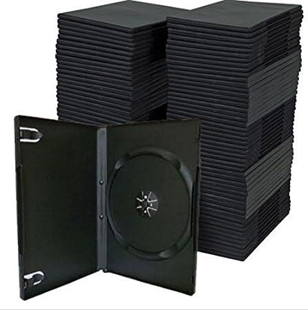 14mm 50Pcs Noir Simple standard CD DVD Bluray manches Boîtes de rangement