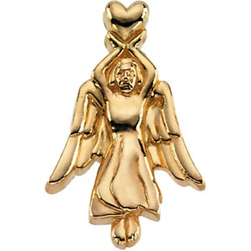 14K Yellow Gold Angel Pin