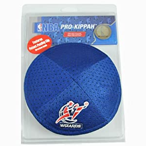 NBA Washington Wizards Clip Pro Kippah Kipa Yamaka Jersey Mesh Licensed Yarmulke by Emblem Source