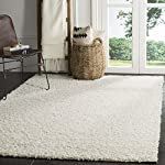 Safavieh Athens Shag Collection SGA119B White Area Rug (3 x 5)