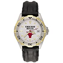 "Chicago Bulls Mens NBA ""All-Star"" Watch (Leather Band)"