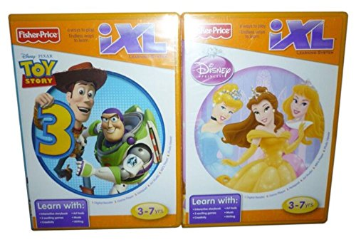Fisher-Price iXL Learning Games Bundle: Disney Princesses & Toy Story 3