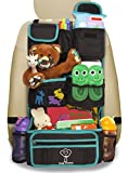 Cozy Greens® Backseat Organizer | 2015 VERSION - ECO MATERIAL Car Organizer in Luxury Gift Box | *FREE BONUS*: eBook for Traveling with Kids | Supports Charity | Lifetime Satisfaction Guarantee!