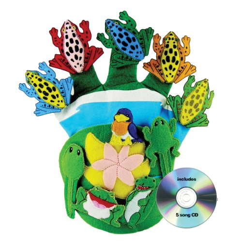 Get Ready Kids Glove Puppet Set: Wide Mouth Bullfrog and Friends