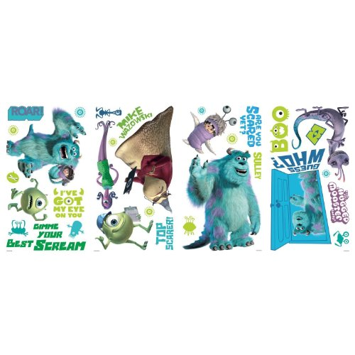 Disney Monsters Inc 31 Big Wall Decals Mike Sulley Boo Celia Room Decor Stickers front-1070681