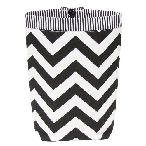 Car Trash Bag Gearshift Style Black Chevron Striped Band