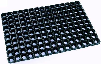 Pack de 4 caoutchouc antidérapante carré tapis antidérapant anti-rayure tableau pads coasters
