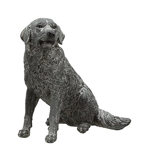 Creative Co-Op Resin Dog Figurine, 5.5-Inch Height, Distressed Grey Finish front-863795