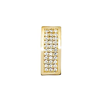 18k gold pendant rectangular zircons [AA4908]
