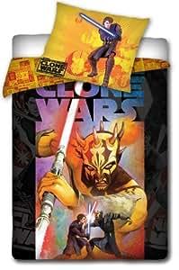 100% Baumwolle Darth Vaider Star Wars Bettwäsche Clone Wars Einzelbett mit Reißverschluss