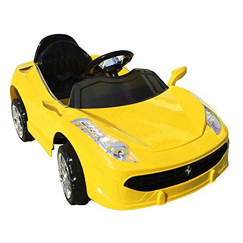 乗用ラジコン【フェラーリTYPE】[カラー:イエロー][HL-5088]乗って走れる乗用ラジコンカー【乗用玩具】【電動ラジコン】憧れのスポーツカーFerrariタイプ!