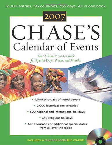 Chase's Calendar of Events 2007 w/CD ROM