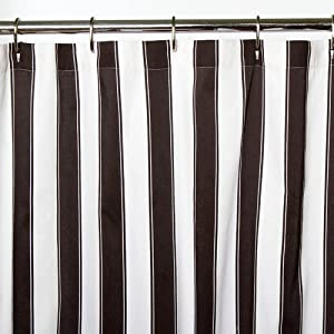 Sin in linen big top stripes shower curtain Black and white striped curtains