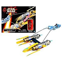 Hasbro Year 1998 Star Wars Movie Series Episode 1 Vehicle with Action Figure Set - ANAKIN SKYWALKER'S POD RACER with Blast-Open Directional Vanes Plus Exclusive 3 Inch Tall Anakin Skywalker Figure