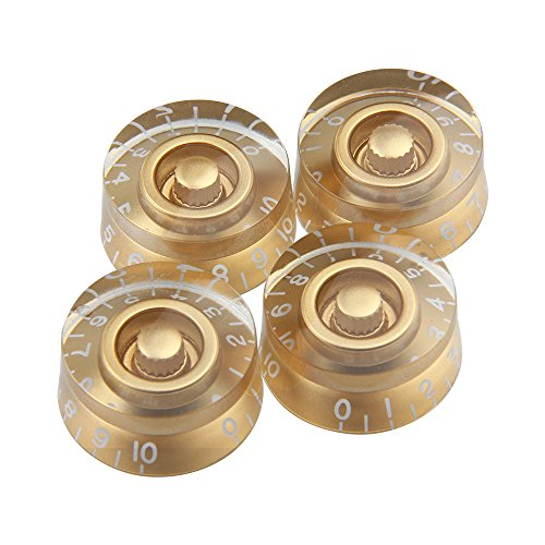 Kmise Electric Guitar Control Speed Knobs for Gibson Les Paul LP Knob Parts Replacement Gold 4 Pcs (Gibson Electric Guitar Les Paul compare prices)