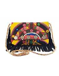 Astin Karma Leather Sling Shoulder Purse-Magnetic Button Flap Sling Bag