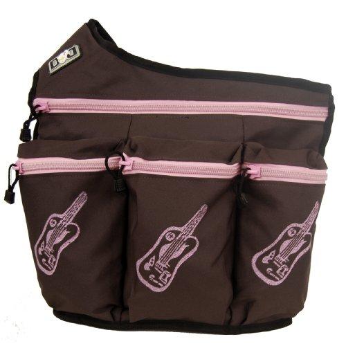 diaper-dude-borsa-diva-per-pannolino-motivo-chitarra-colore-marrone-rosa