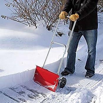 Metal Rolling Snow Pusher Shovel