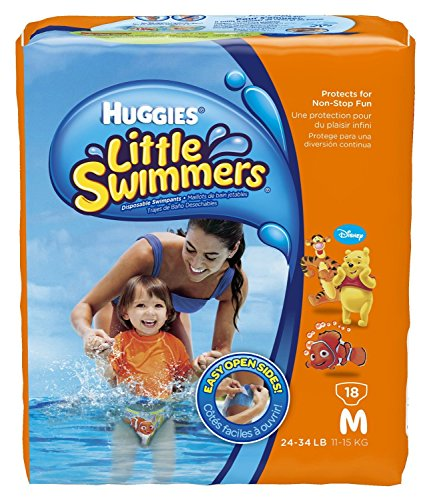 Huggies Little Swimmers Disposable Swimpants, Medium, 18 Count (Character May Vary)