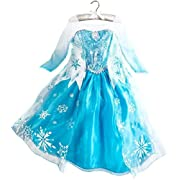 Disney Store Frozen Princess Elsa Costume Size Medium 7/8