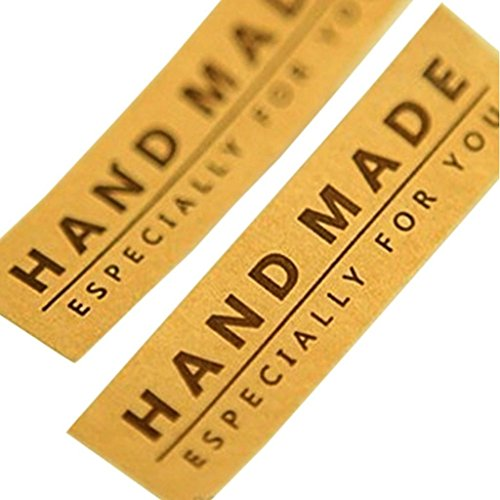 Hand Made Especially for you Brown Kraft Sticker for ...