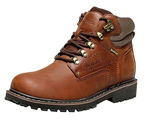 LKPOP MULINSEN Men's Mountain Shoes Snow Boots Leather