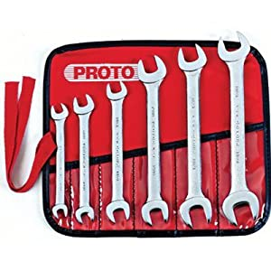 Stanley Proto J30000R 6 Piece Metric Open End Wrench Set