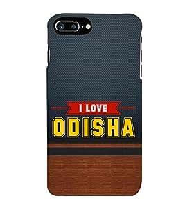 HiFi Designer Phone Back Case Cover Apple iPhone 7 Plus :: Apple iPhone 7+ ( I Love Orisha Blue wood Look Quote )