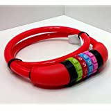 Fahrradzahlenschloss 65 CM Cable Plastic Coated Steel Bike Lock Red numbers
