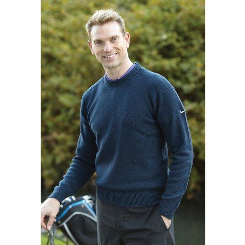 Nike Golf 100% Lambswool Pullover Sweatshirt / Mens Knitwear (M) (Black)