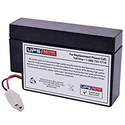 Powersonic PS-1208WL 12 Volt 0.8 Amp Hour Sealed Lead Acid Battery w/ wire lead and MATE-N-LOK