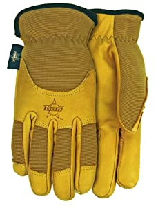 Midwest Gloves and Gear PB103M, PBR, Smooth Grain Cowhide Gloves, Medium