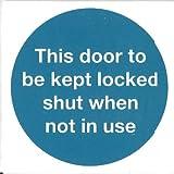 Panneau d'avertissement, mode d'emploi porte à Panneau rigide maintenues verrouillées de santé et de sécurité, dans la voiture, usine, au bureau, à la maison...