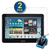 GTMax 2x Clear LCD Screen Protector for Samsung Galaxy Tab 2 P5100 / P5110 ( 10.1inch,WiFi ) Tablet