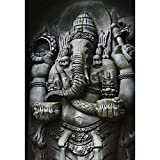 Artzloom A Statue Of Ganesha, One Of The Hindu Gods, Carved In The Style Of Javanese Art Canvas Art Print With... - B011I0C4P4
