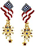 Lunch at The Ritz 2GO USA American Flag Earrings