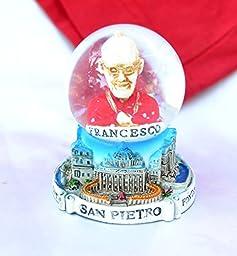 Souvenir Snowdome Italy Snowglobe Rome Pope Francis Francesco San Pietro S-70mm