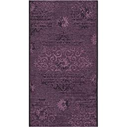 Safavieh Palazzo Collection PAL129-56C7 Black and Purple Runner, 2 feet by 7 feet 3 inches (2\' x 7\'3\