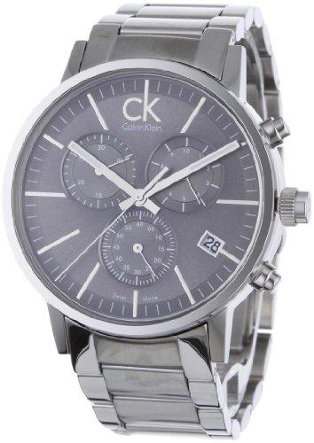 Calvin Klein Post Minimal Silver Tone Dial Men's Watch - K7627161