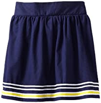 Hartstrings Girls 7-16 Bedford Skirt With Pleated Ribbon Trim, Light Navy, 8