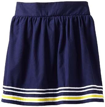 Hartstrings Big Girls' Bedford Skirt With Pleated Ribbon Trim, Light Navy, 10