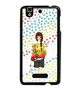 PRINTVISA Cute Girl Case Cover for YU Yureka::Micromax Yureka AO5510