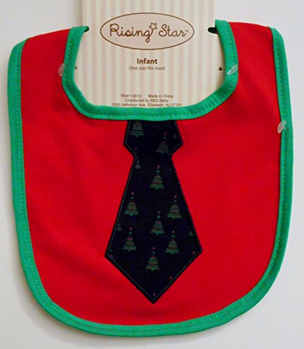 Infant Bib - Christmas Tie