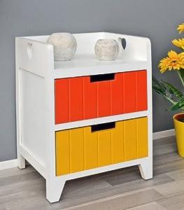 Commode blanche pour cuisine salle de bain armoire avec 2 tiroirs color s e - Commode pour salle de bain ...