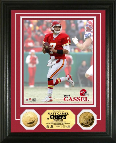 Highland Mint NFL Kansas City Chiefs Matt Cassel 24KT Gold Coin Photomint