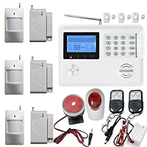 Wireless Home Alarm GSM PSTN Dual-net Auto-dial Burglar System Triple Bands