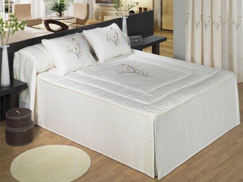 Colcha edredón bordada Noa - cama 105 cm - Doré
