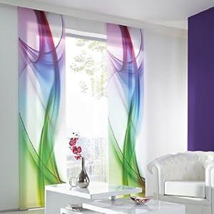 schiebevorhang graphics 60 x 245 cm bunt. Black Bedroom Furniture Sets. Home Design Ideas