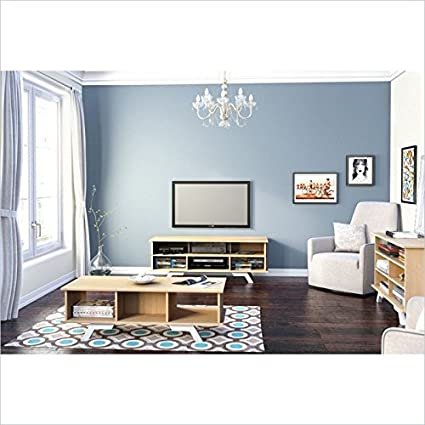 Stiletto Entertainment Kit with 54-inch TV Stand, a Tallboy, & a Coffee Table